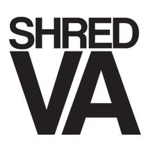 "Shred Stickers - Stickers - Shred Va Blk 5""x4"" Single - Skateboard Decal"