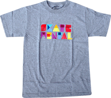 Skate Mental - Mental Paper Block Ss Xl - Heather Grey - Skateboard Tshirt