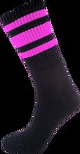 Socco - Crew Blk nk Socks(6 - 9)1pair