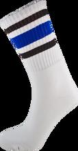 Socco - Crew Wht / Blk / Blue Socks(6 - 9)1pair