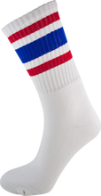 Socco - Crew Wht / Red / Blue Socks(6 - 9)1pair