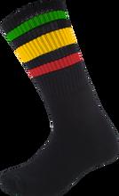 Socco - Crew Blk / Rasta Socks (9 - 12) 1pair