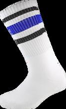 Socco - Crew Wht / Blk / Blu Socks (9 - 12) 1pair