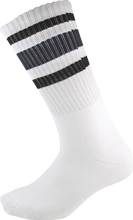 Socco - Crew Wht / Blk Socks (9 - 12) 1pair