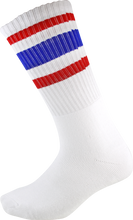 Socco - Crew Wht / Red / Blu Socks (9 - 12) 1pair