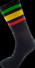 Socco - Crew Blk / Rasta Socks(6 - 9)1pair