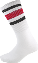 Socco - Crew Wht / Blk / Red Socks (9 - 12) 1pair
