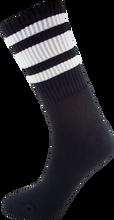 Socco - Crew Blk / Wht Socks(6 - 9)1pair