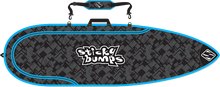 Sticky Bumps - Single Day Bag 6'6 Thruster Blk / Blu / Reflective - Surfboard Boardbag