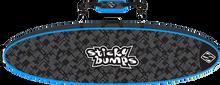 Sticky Bumps - Double Travel Bag 8'6 Blk / Blu / Reflective - Surfboard Boardbag