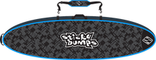 Sticky Bumps - Double Travel Bag 9'6 Blk / Blu / Reflective - Surfboard Boardbag