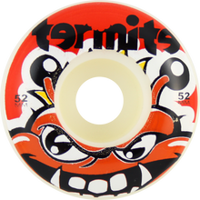 Termite - Tommy 52mm Wht W / Red - (Set of Four) Skateboard Wheels