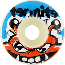 Termite - Tommy 52mm Wht W / Blue - (Set of Four) Skateboard Wheels