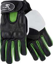 Timeship Racing - James Kelly Slide Gloves Xs - Blk / Green - Skateboard Pads