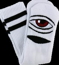 Toy Machine - Sect Eye Iii Crew Socks - White 1 Pair