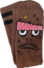 Toy Machine - Poo Poo Head Crew Socks - Brown 1 Pair
