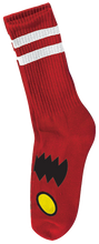 Toy Machine - Monster Face Crew Socks - Red 1 Pair