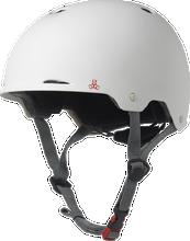 Triple Eight - Gotham Helmet Xs / S - White Matte Rubber Cpsc / Astm - Skateboard Helmet