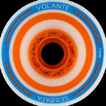 Volante Wheels - Off - Set Serrata 72mm 80a Wht / Blu / Org - (Set of Four) Skateboard Wheels