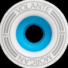 Volante Wheels - Morgan 1mm Offset 70mm 82a Wht / Silver / Blu - (Set of Four) Skateboard Wheels