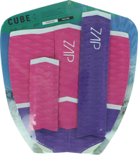 Zap - Cube Tail / Arch Bar Set Pink ur / Wht - Surfboard Traction