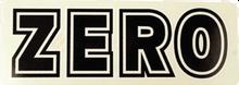Zero - Bold Decal Blk / Wht Single - Skateboard Decal
