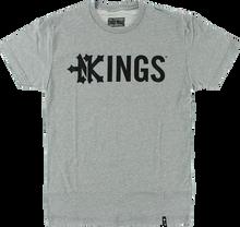 Zooyork - Kings Drop Kings Ss S - Heather Grey - Skateboard Tshirt