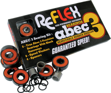 Reflex - Abec - 3 Bearing Pack Orange Shield - Skateboard Bearings