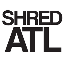 "Shred Stickers - Stickers - Shred Atl / Blk 6""x4"" Single"