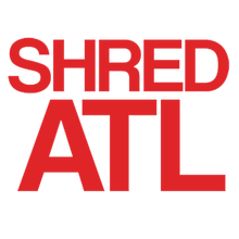"Shred Stickers - Stickers - Shred Atl / Red 6""x4"" Single"