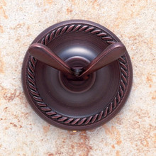 JVJ 24707 Roped Series Old World Bronze Double Robe Hook