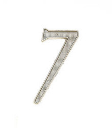 "JVJ 00739 4"" Satin Nickel Finish Zinc Alloy House Number ""7"""