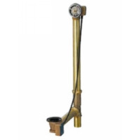 "Geberit 151.450.00.1 Bath Waste and Overflow Subassembly Tubular Brass Rough In with 1/2"" Brass Slip Joint"