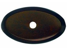 "Top Knobs M1438 MCB Aspen Oval Backplate 1 1/2"" - Mahogany Bronze"