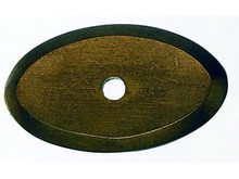 "Top Knobs M1436 LB Aspen Oval Backplate 1 1/2"" - Light Bronze"