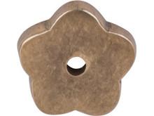 "Top Knobs M1426 LB Aspen Flower Plate 1"" - Light Bronze"