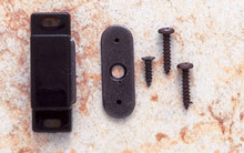 JVJ 91715 Black Finish Magnetic Catch with Strike and Screws