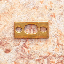 "JVJ 90737 Polished Brass 5/8"" X 1 1/4"" Strike Plate"