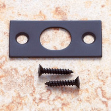 "JVJ 90420 Strike with Screws For 6"" Flush Bolt - Oil Rubbed Bronze"