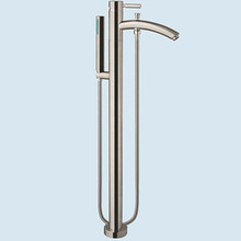 Wyndham WCAT102340P11BN Taron Floor Mounted Tub Filler Faucet with Handshower - Brushed Nickel