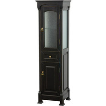 "Wyndham WCVTFS065BL Antique Black Linen Tower Storage Cabinet 18"" W X 65"" H X 16"" D"