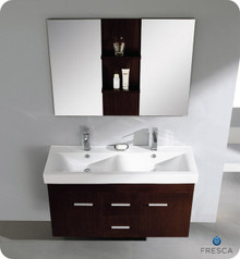 "Fresca Torino FVN6236ES-VSL 36"" Espresso Modern Bathroom Vanity Cabinet w/ Vessel Sink - Espresso"