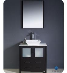 "Fresca Torino FVN6230ES-VSL 30"" Espresso Modern Bathroom Vanity Cabinet w/ Vessel Sink"