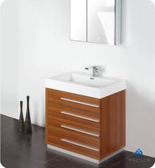 "Fresca FVN8030TK 30"" Teak Modern Bathroom Vanity Cabinet W/ Medicine Cabinet  - Teak"