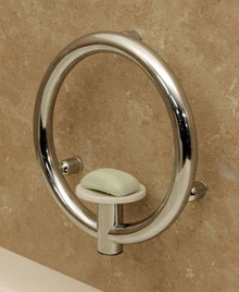 HealthCraft Invisia INV-SD-ORB Bathroom Soap Dish with Integrated Support Grab Bar - Oil Rubbed Bronze