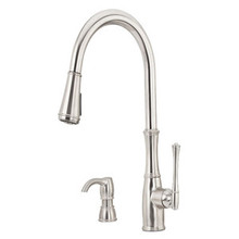 Price Pfister GT529-WH1S Wheaton Pull-down Kitchen Faucet & Soap Dispenser - Stainless