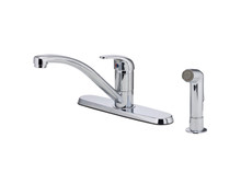 Price Pfister G134-7000 Pfirst Series Single Handle Kitchen Faucet With Side Spray - Chrome