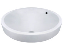 "Polaris P28122VW Porcelain Vessel Sink 18"" x 7 3/4"" - White"