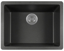 "Polaris P808BE Matte Beige Single Bowl Astrgranite Undermount Rectangular Kitchen Sink 21.63"" x 16.88"" x 7.75"""