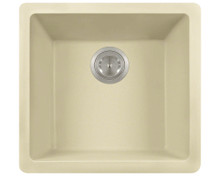 "Polaris P508BE Beige Single Bowl Astragranite Undermount Rectangular Kitchen Sink 17.75"" x 16.88"" x 7.75"""